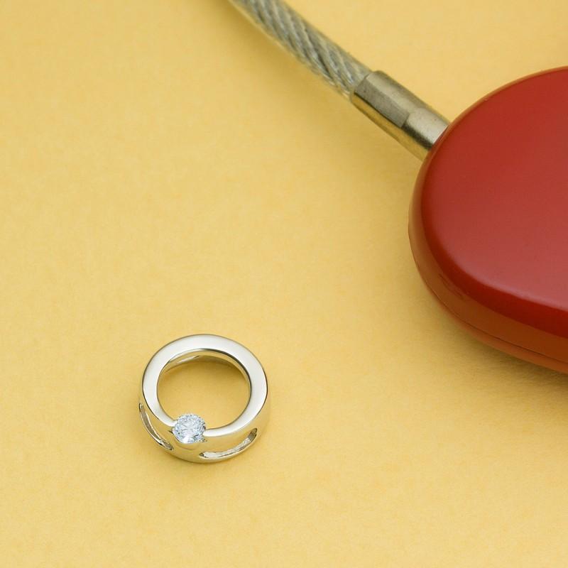 Подвеска из белого золота с бриллиантом э0901пд10173500 (фото 4)