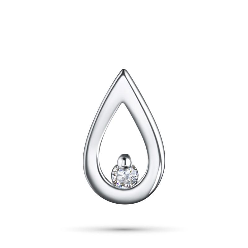 Подвеска из серебра с бриллиантом э0601пд03155000