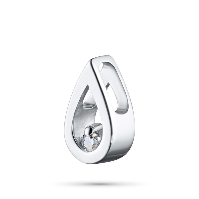 Подвеска из серебра с бриллиантом э0601пд03155000 (фото 2)