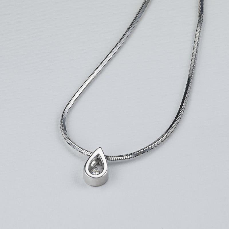 Подвеска из серебра с бриллиантом э0601пд03155000 (фото 4)