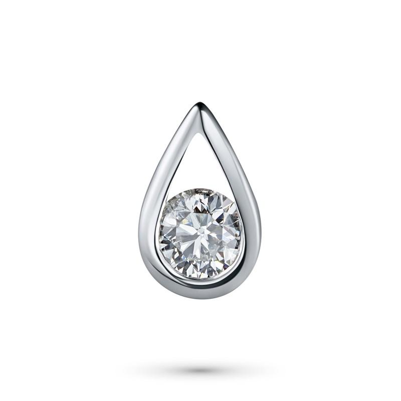 Подвеска из белого золота с бриллиантом э0901пд06200853