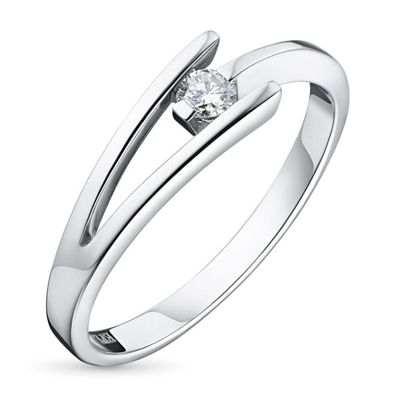 Кольцо из серебра с бриллиантом э0601кц01158900