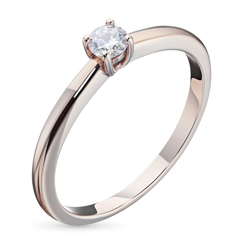 Кольцо из красного золота с бриллиантом э0201кц01162900