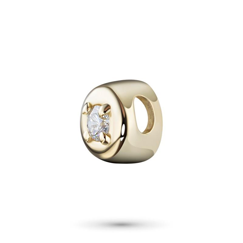 Подвеска из желтого золота с бриллиантом э0301пд08070700 (фото 2)