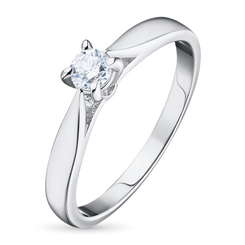Кольцо из белого золота с бриллиантом э0901кц09150800