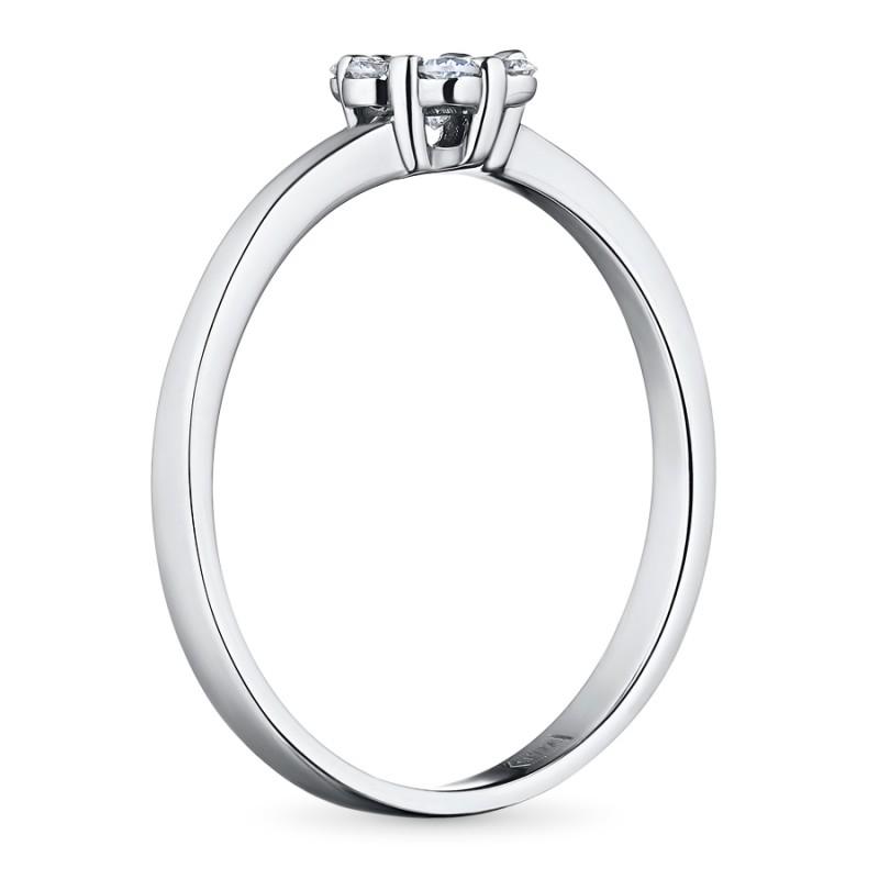 Кольцо из белого золота с бриллиантами э0901кц04152800 (фото 4)