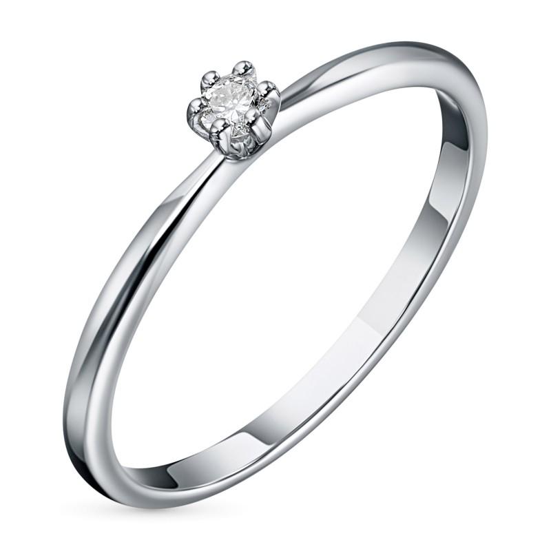 Кольцо из белого золота с бриллиантом э0901кц03201030
