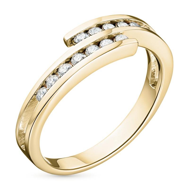 Кольцо из желтого золота с бриллиантом э0301кц06105300