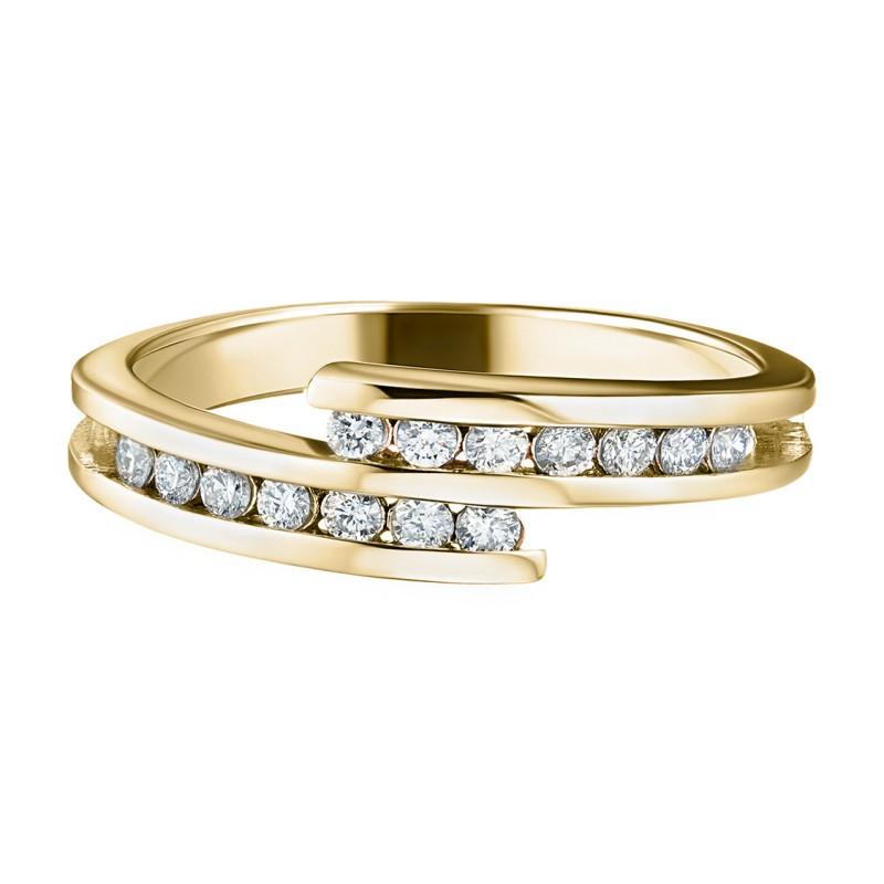 Кольцо из желтого золота с бриллиантом э0301кц06105300 (фото 2)