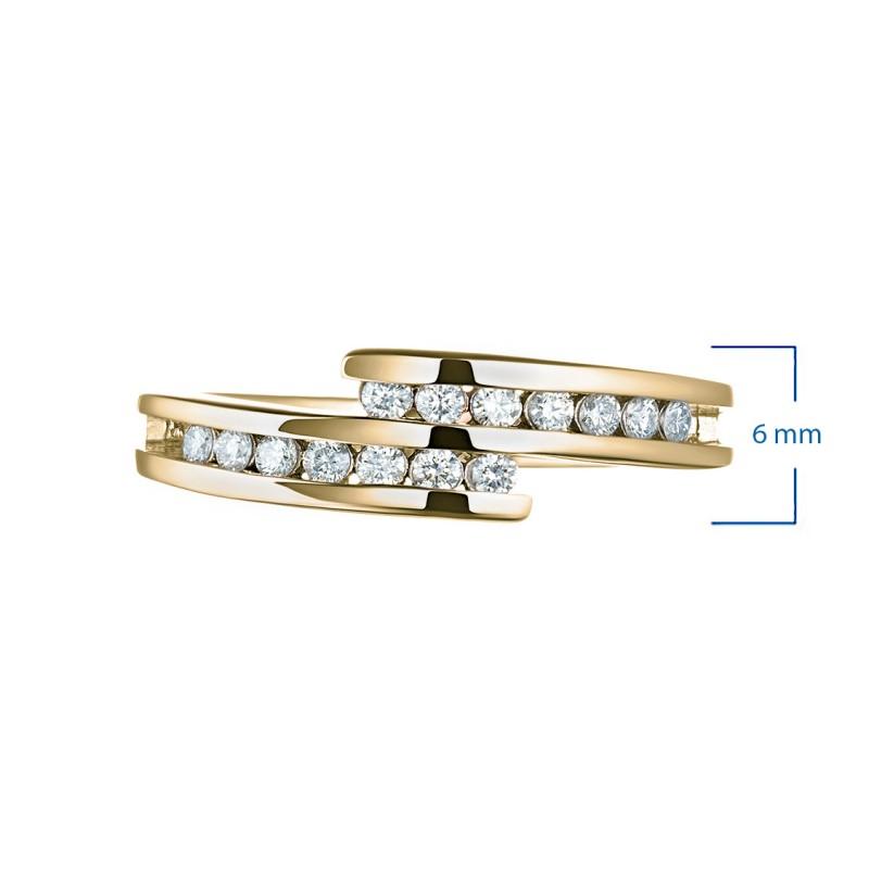 Кольцо из желтого золота с бриллиантом э0301кц06105300 (фото 3)