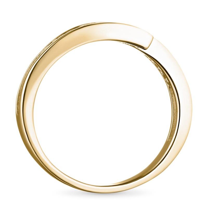 Кольцо из желтого золота с бриллиантом э0301кц06105300 (фото 4)