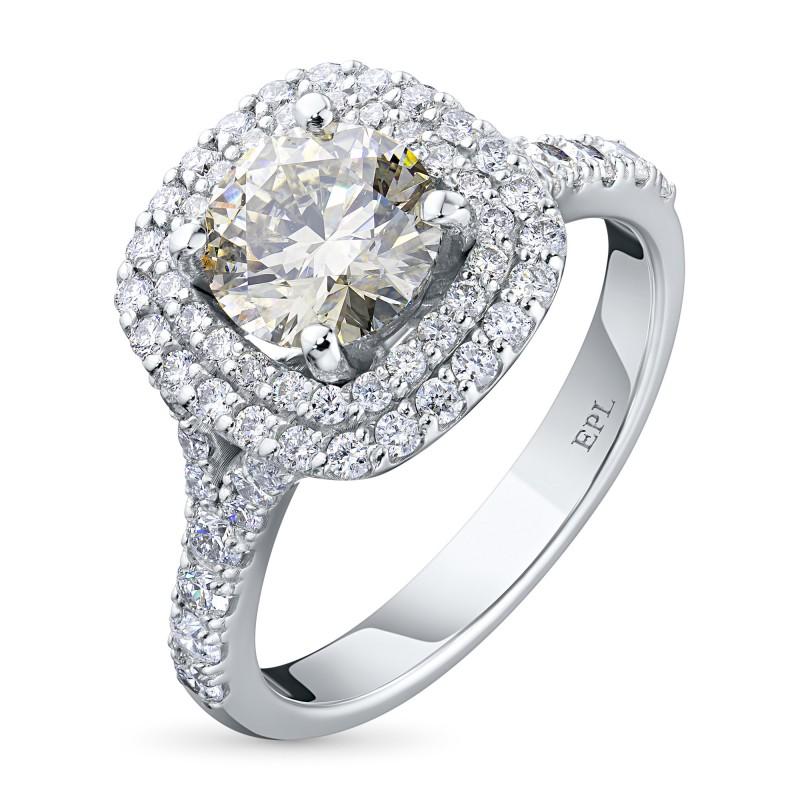 Кольцо из белого золота с бриллиантами э0901кц02186300