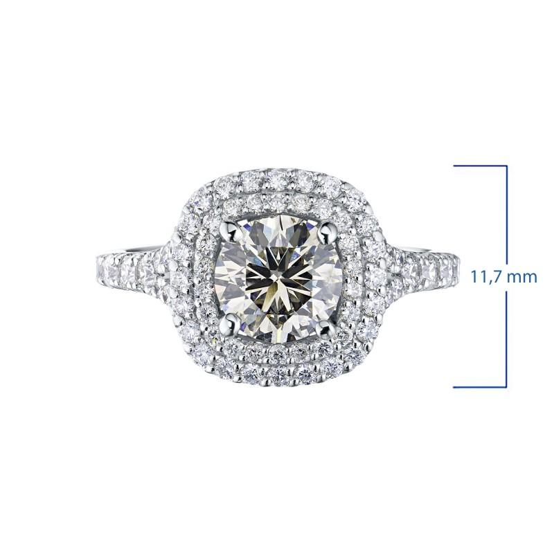 Кольцо из белого золота с бриллиантами э0901кц02186300 (фото 3)