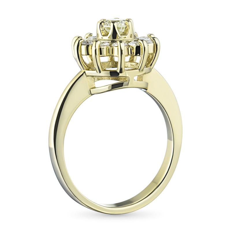 Кольцо из желтого золота с бриллиантами э0301кц04202940 (фото 4)