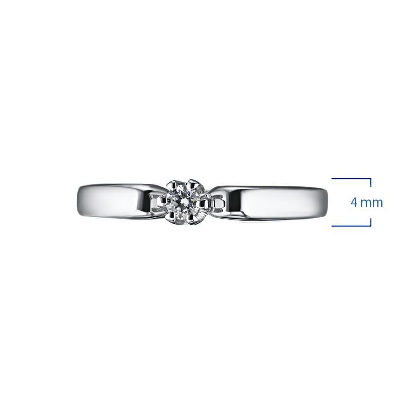 Кольцо из серебра с бриллиантом э0601кц05151500 (фото 2)