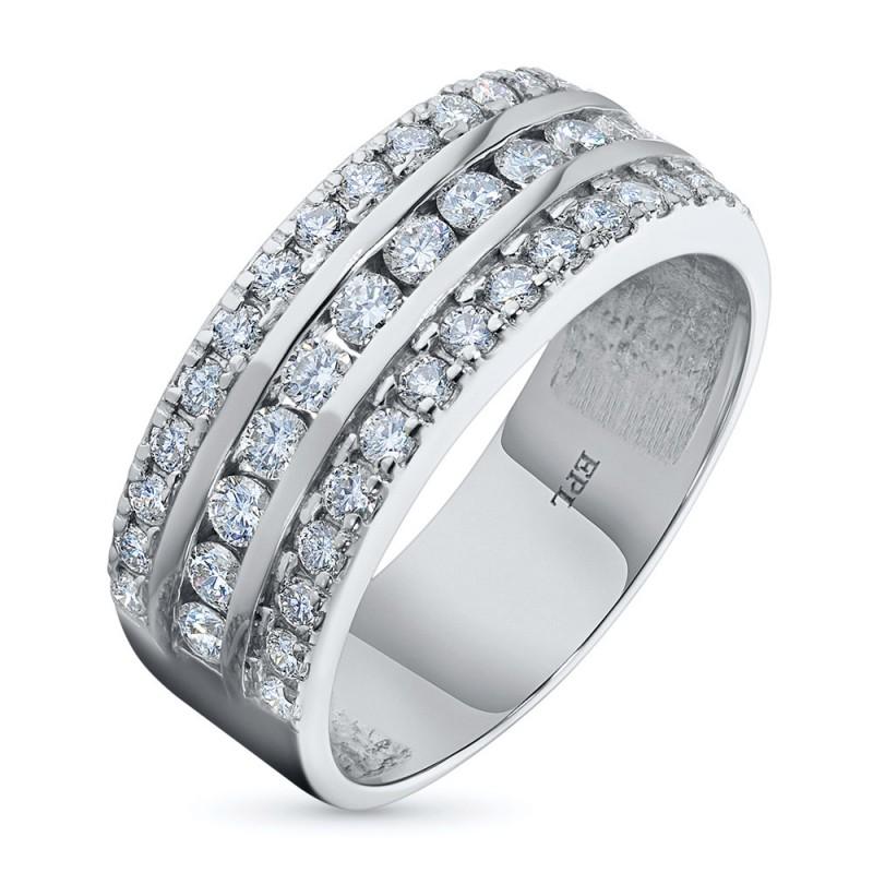 Кольцо из белого золота с бриллиантами э0901кц02135600
