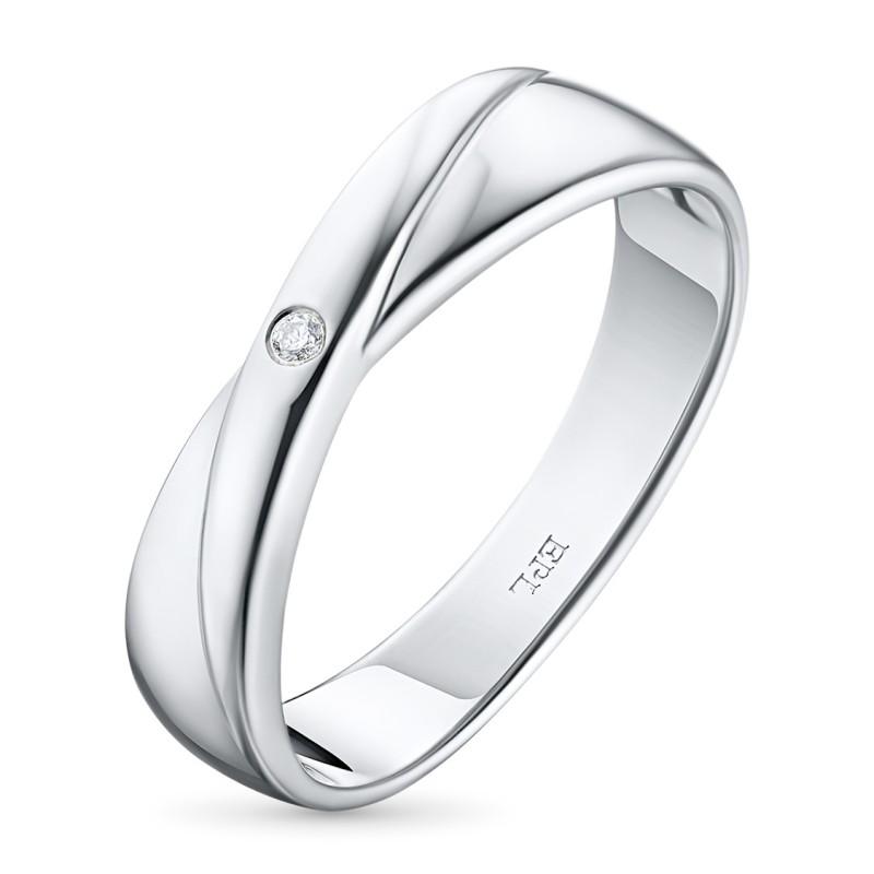 Кольцо из серебра с бриллиантом э0601кц02184900