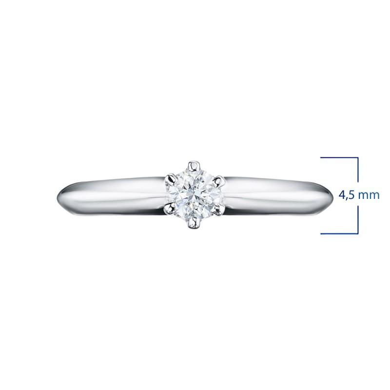 Кольцо из белого золота с бриллиантом э0901кц04202996 (фото 3)