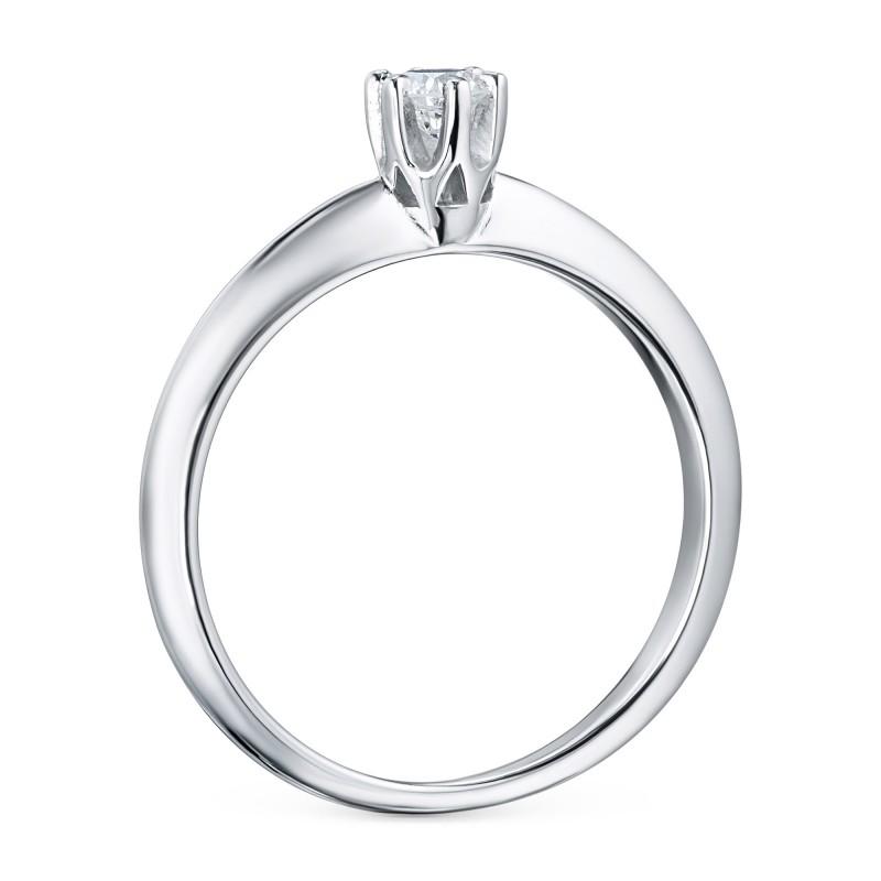 Кольцо из белого золота с бриллиантом э0901кц04202996 (фото 4)