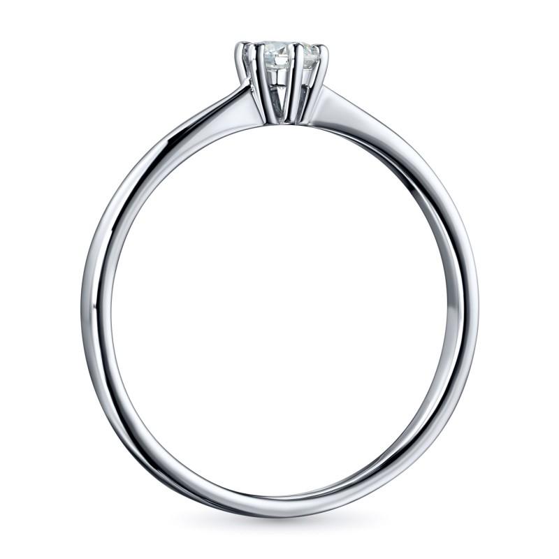 Кольцо из белого золота с бриллиантом э0901кц05200686 (фото 3)
