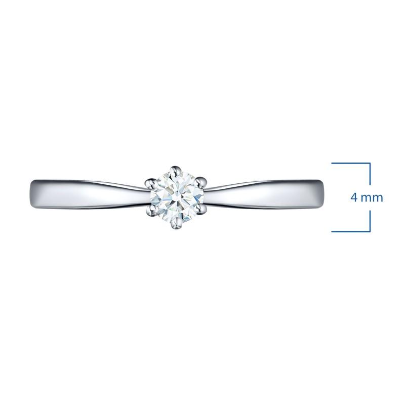 Кольцо из белого золота с бриллиантом э0901кц05200686 (фото 4)