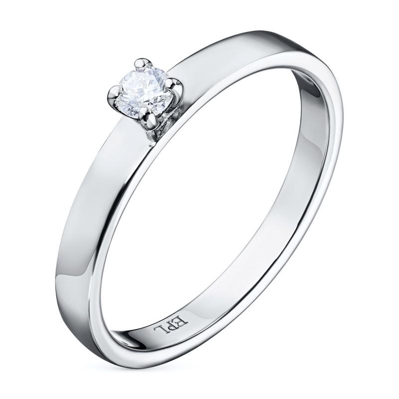Кольцо из белого золота с бриллиантом э0901кц12155000