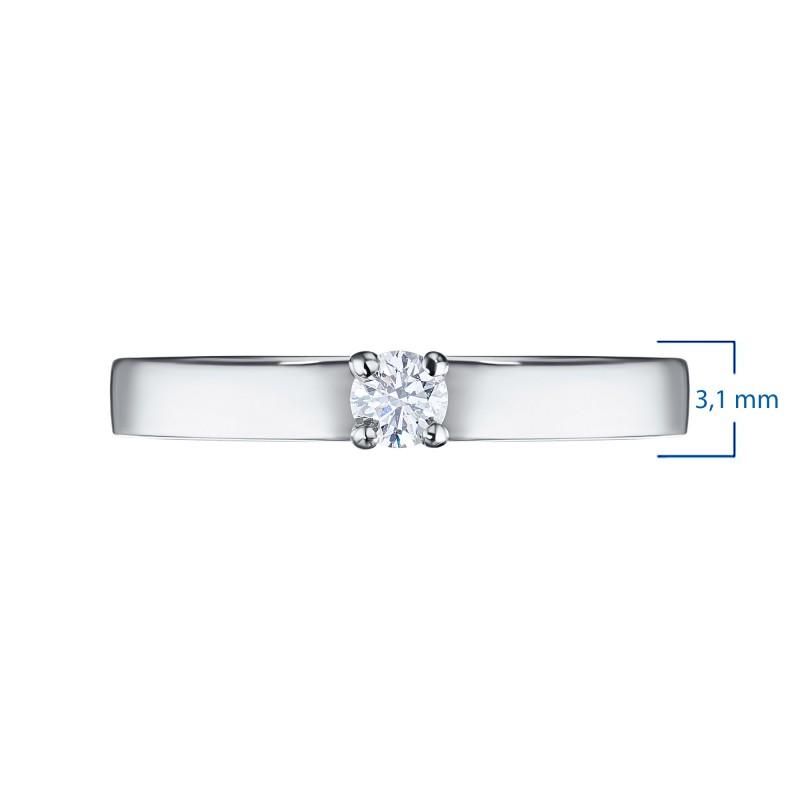 Кольцо из белого золота с бриллиантом э0901кц12155000 (фото 3)