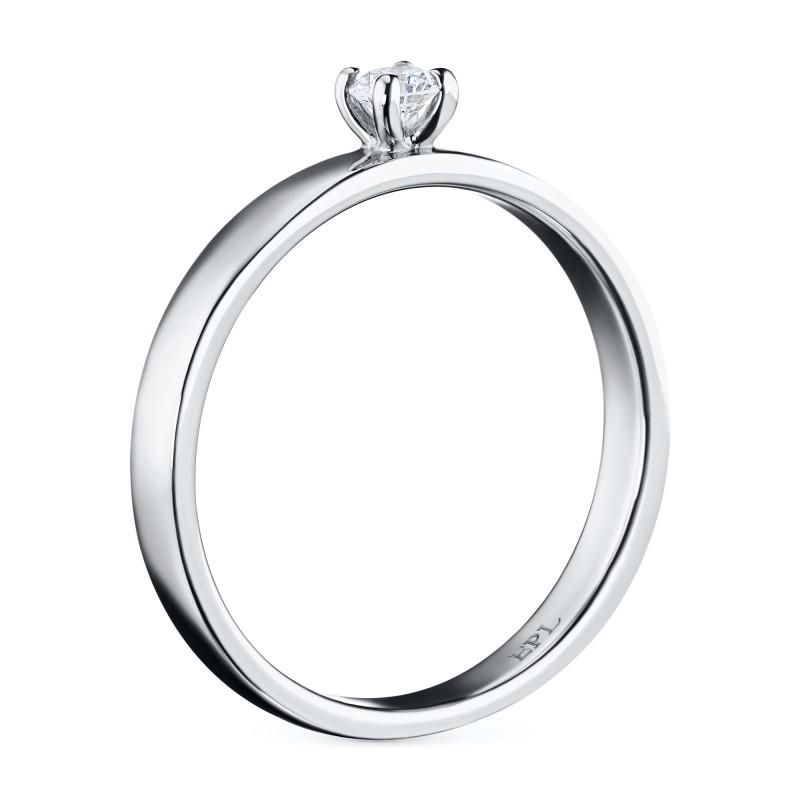 Кольцо из белого золота с бриллиантом э0901кц12155000 (фото 4)
