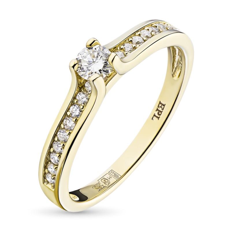 Кольцо из желтого золота с бриллиантами э0301кц04181800