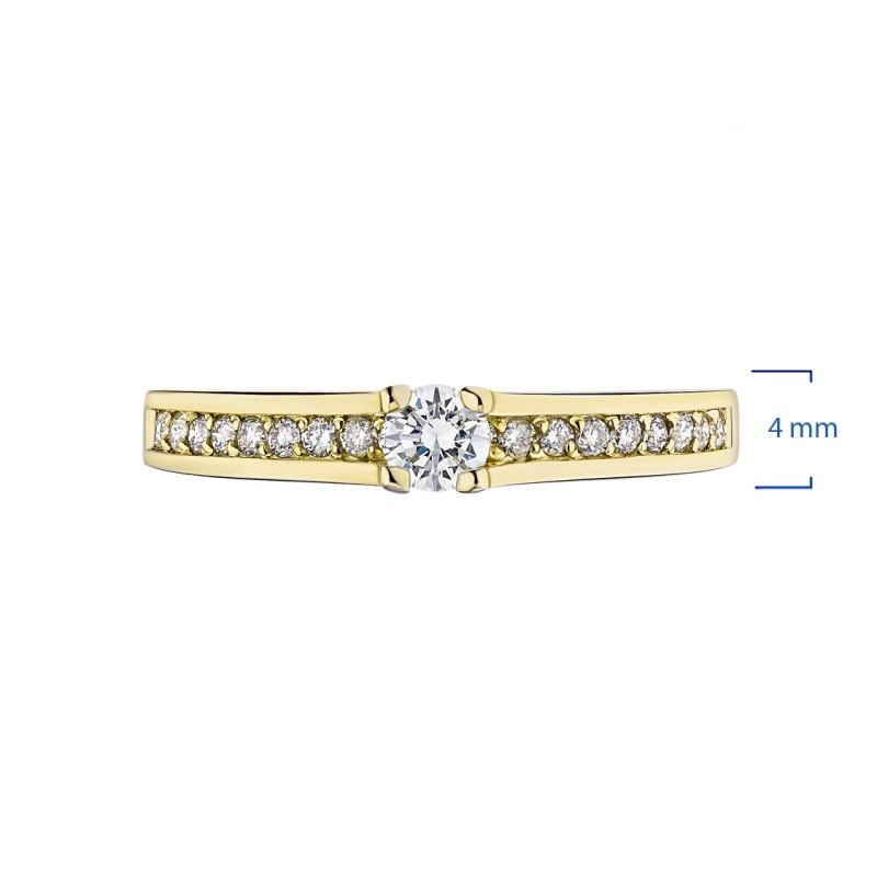 Кольцо из желтого золота с бриллиантами э0301кц04181800 (фото 2)