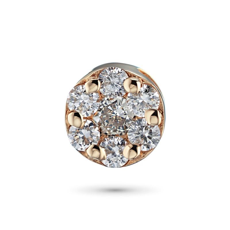 Подвеска из красного золота с бриллиантами э0201пд04152800