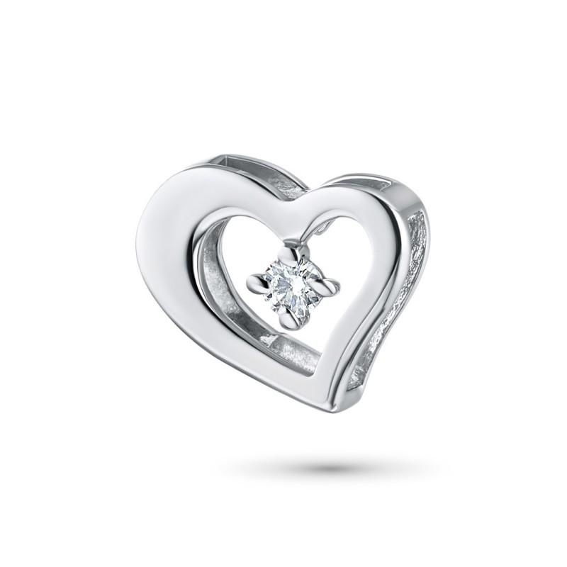Подвеска из серебра с бриллиантом э0601пд02130700