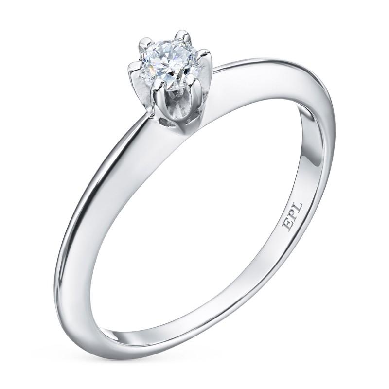 Кольцо из белого золота с бриллиантом э0901кц04202996