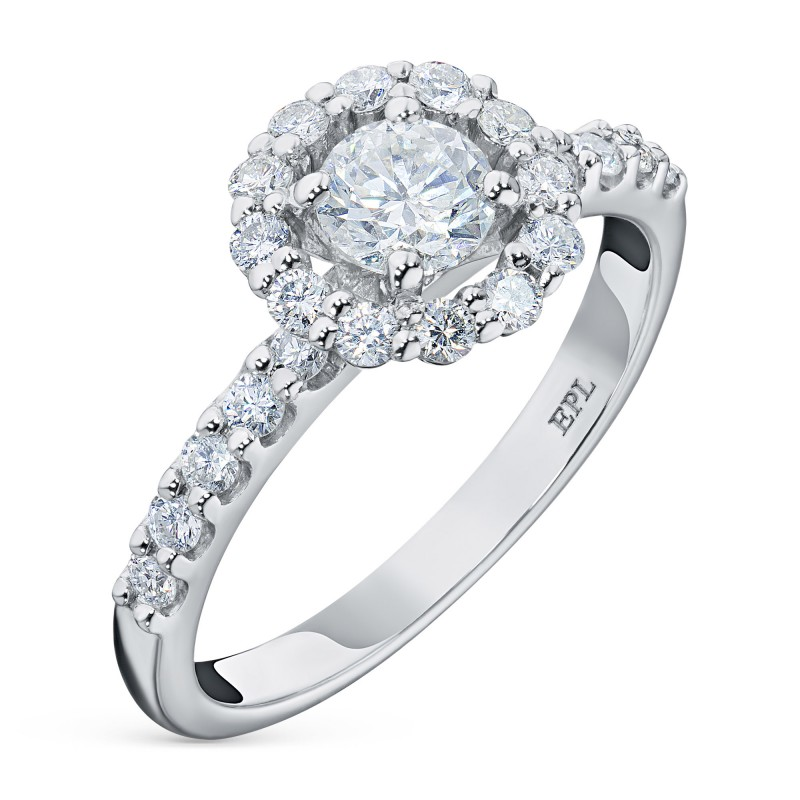 Кольцо из белого золота с бриллиантами э0901кц06165300