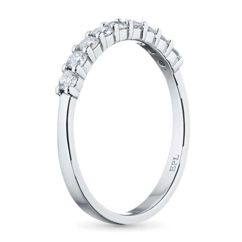 Кольцо из белого золота с бриллиантом э0901кц12153400 (фото 4)