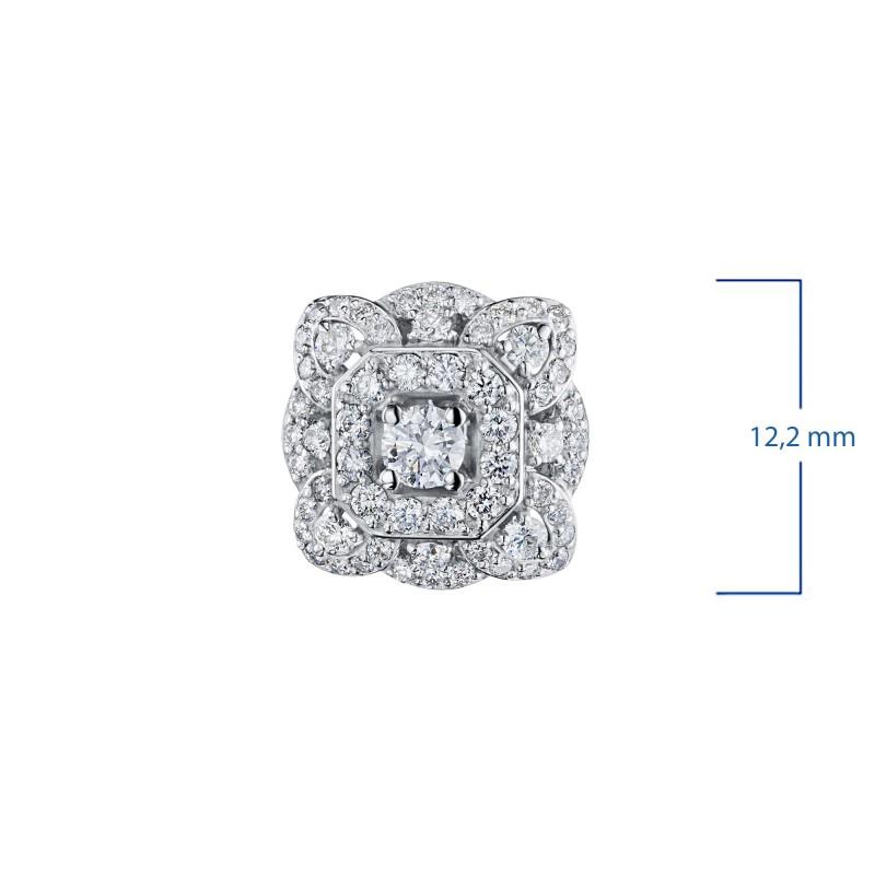 Пусеты из белого золота с бриллиантами э0901пс01210954 (фото 3)