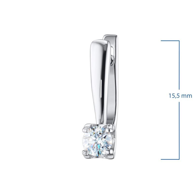 Серьги из белого золота с бриллиантом э0901сг06200855 (фото 3)