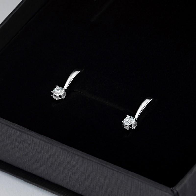 Серьги из белого золота с бриллиантом э0901сг06200855 (фото 4)