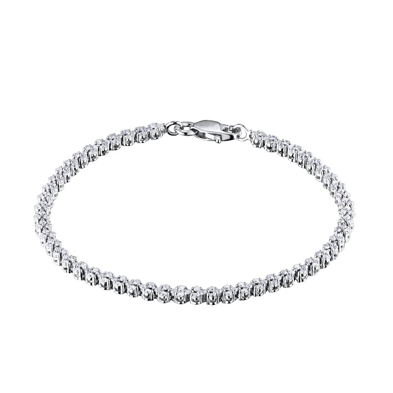 Браслет из белого золота с бриллиантами э0901бр02187400