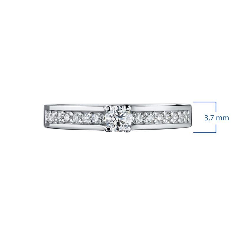 Кольцо из белого золота с бриллиантами э0901кц08200105 (фото 3)