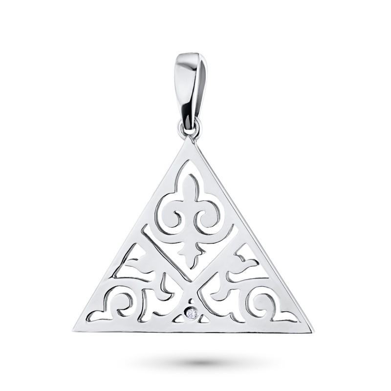 Подвеска из серебра с бриллиантом э0601пд04181300