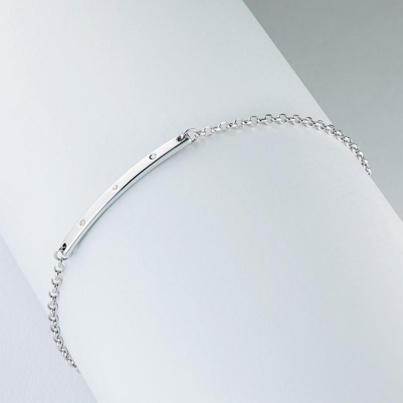 Браслет из серебра с бриллиантом э0601бр03184300 (фото 4)