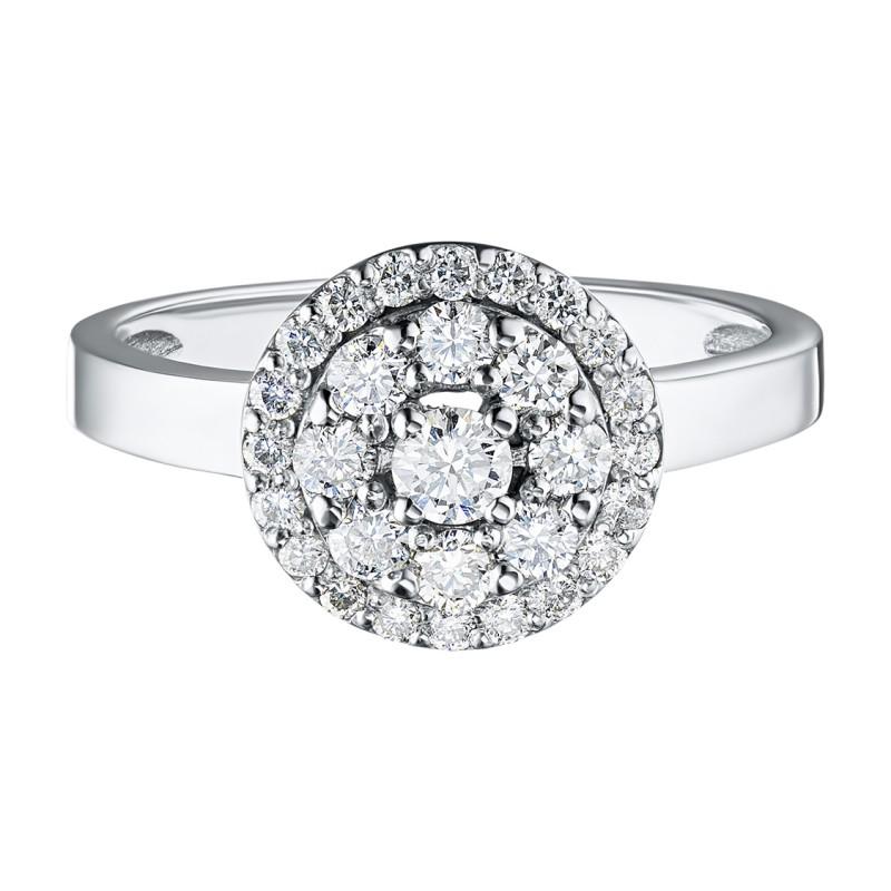 Кольцо из белого золота с бриллиантами э0901кц07169000 (фото 2)