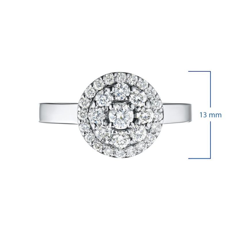 Кольцо из белого золота с бриллиантами э0901кц07169000 (фото 3)
