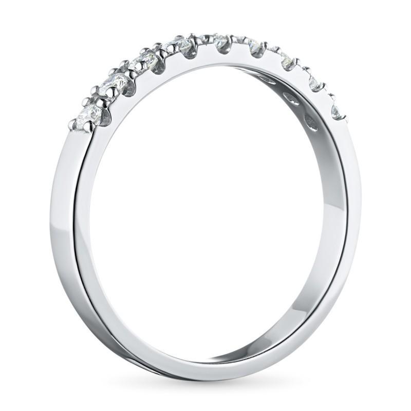 Кольцо из белого золота с бриллиантом э0901кц08161200 (фото 4)