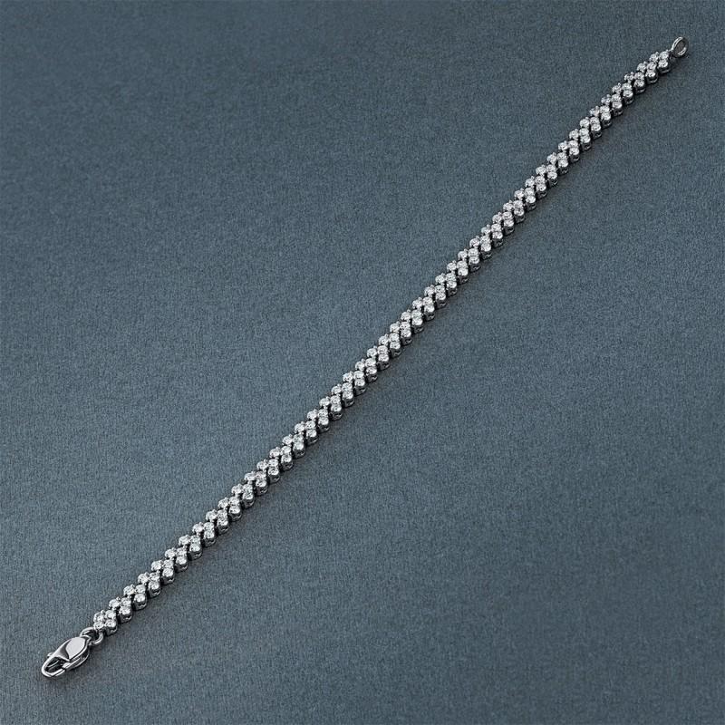 Браслет из белого золота с бриллиантом э0901Бр01160500 (фото 4)