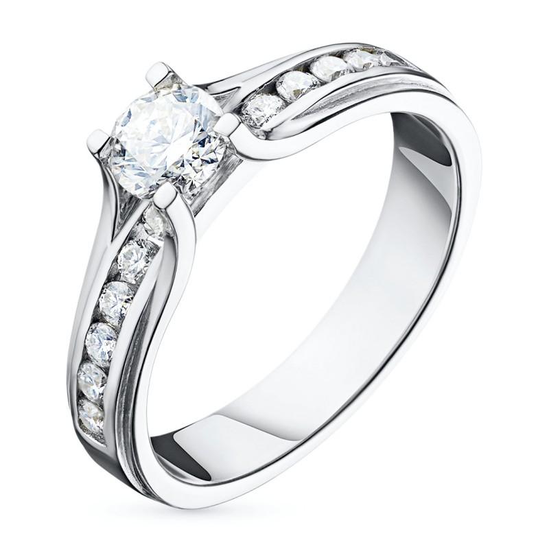 Кольцо из белого золота с бриллиантами э0901кц09150600