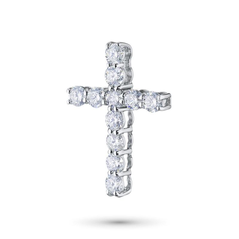 Подвеска из белого золота с бриллиантом э0901пд05153300 (фото 2)