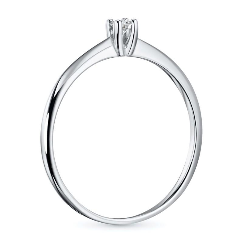 Кольцо из белого золота с бриллиантом э0901кц10200128 (фото 4)