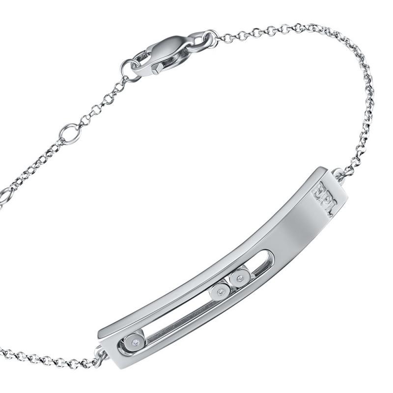 Браслет из серебра с бриллиантом э0601бр03181400 (фото 2)